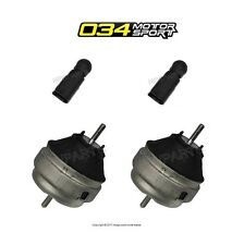For Audi RS4 S4 04-09 Set of Left & Right Engine Mounts w/ Bypass Connectors 034