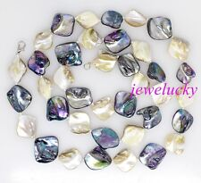 black baroque mother of pearl shell New jewelry necklace 32 inches Mix white