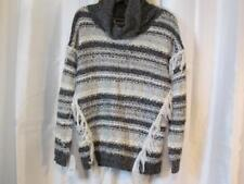 NWOT Kensie Gray White Cowl Neck Sweater Sz Small Org $99.00