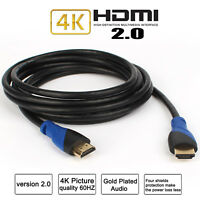 2018 Ultra HD HDMI Cable 2160p@60Hz High Speed+Ethernet HDTV 4K 3D GOLD-10FT Lot