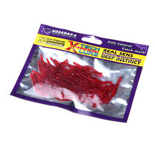 Lot of 50Pcs 3.5cm Simulation Earthworm Worms Fishing Lures Tackle Soft Bait Red