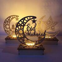 DIY Wooden Mubarak Ramadan Eid Muslim Islamic Gift Ornament Home Party Decor