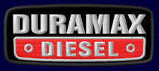 "DURAMAX DIESEL EMBROIDERED PATCH ~3-3/4 x 1-1/2"" MOTOR V8 ENGINE GM 6.5 TRUCK #2"
