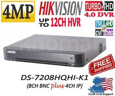 HIKVISION DS-7208HQHI-K1 4MP 8CH HD-TVI DVR + 4CH IP UP TO 12CH IN TOTAL H.265+
