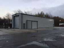 Steel building- Truck MOT Unit Large Industrial Insulated Clad Portal Building