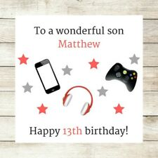 PERSONALISED Birthday Card Son Brother Nephew Male 10th 12th 13th 16th Teenager