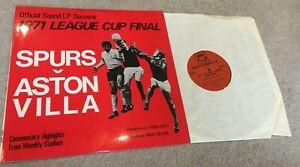 1971 League Cup Final Spurs v A Villa Vinyl Record QP 6/71 un-played condition