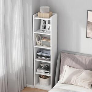 152cm Thin Corner Bookshelf Cupboard Display Cabinet Bookcase Shelving Unit Home