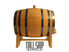 1L American Oak Barrel - Black Hoop Hand Coopered Keg (Wine, Port, Whisky, Rum)
