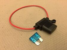 NEW In-Line Car Standard Blade Fuse Holder Waterproof 18AWG Upto 15A 12V/24V/32V