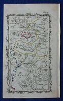 Rare antique road map, SCOTLAND, BERWICKSHIRE, HADDINGTON, M. Armstrong, 1776