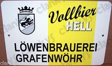 Grafenwohr US Army Flippies Beer Label Vollbier Hell 12x8 Alum Sign Made in USA