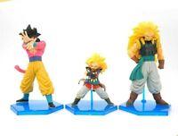 Dragon Ball Z Anime, A set of Son Goku Action figures, set of 3 toys