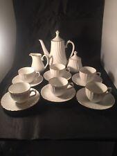 Vintage Harmony Monno café cafetière sucrier pot à lait tasses et soucoupes