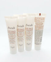 4 x fresh SOY FACE CLEANSER For All Skin Types .6 oz / 20ml, Travel Size