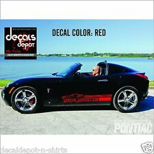 Decal Vinyl Fits PONTIAC Solstice Coupe Base Convertible GXP 2008 to 2017 Models