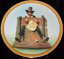 """Knowles Collector Plate """"Ye Glutton"""" Norman Rockwell Limited Edition 1988"""