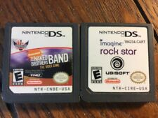 Rock Star + Naked Brothers Band (Nintendo DS Game Lot) Children - Guaranteed