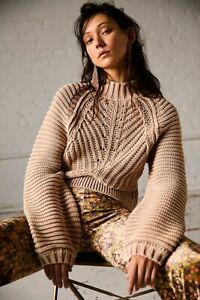 Free People Sweetheart Cable Chunky Knit Jumper S NEW Sample