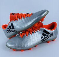 ADIDAS X 16.4 FXG Soccer Cleats S75676 Mens Size 13 Silver Black Orange EUC