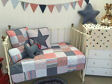 Thomas Star 4 pce Boys Nursery Cot Quilt & 3 Decorator Cushions Linens N Things