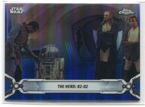 2019 Star Wars Chrome Legacy Blue Refractor 9 The Hero: R2-D2 45/99