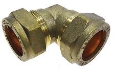 Qualità in ottone 22mm 90 ° Compressione Gomito Raccordo Idraulico/Connettore.