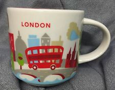 Starbucks London YAH Mug Bus Big Ben Tower Bridge Cup You Are Here England UK