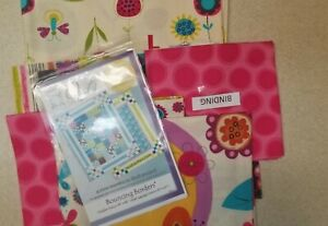 Fly Away Bouncing Borders Quilt Kit by Robert Kaufman + Backing Fabric
