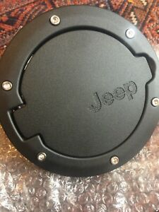 Black Fuel Filler Door Cover Gas Tank Cap Jeep Wrangler