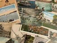 Giant Estate Lot of 1500+ US Postcards 12+ lbs Vintage Linen or Older No Chrome!