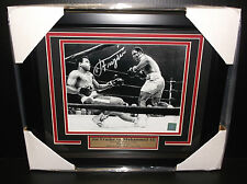 JOE FRAZIER AUTOGRAPHED SIGNED 8x10 FRAMED PHOTO VS MUHAMMAD ALI SUPERSTAR COA