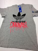 Adidas Originals Grafik Trefoil City T-Shirt, grau,  Gr. S  - B-Ware Shirt