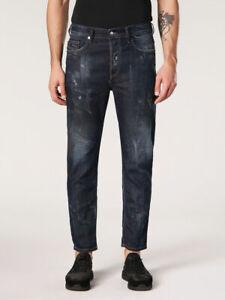Diesel Men`s Jeans Size 30 JIFER Regular Slim-Tapered W30 L34 Made In Italy