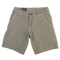 KUHL Crag Series Shorts Beige Outdoor Hiking Men's Size 32 Measure 33 Gray Green