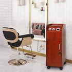 Modern Salon Trolley Wooden Stylist Cart Beauty Hair Dryer Holder Barber Station