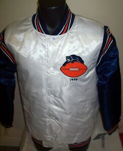 CHICAGO BEARS Starter Throwback Snap Down Jacket S M L XL 2X WHITE