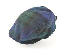 New Polo Ralph Lauren 100% Wool Black Watch Tartan Plaid Driving Hat Flat Cap