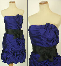 Jovani Size 4 Royal $320 Evening Prom Formal Strapless Homecoming Short Gown