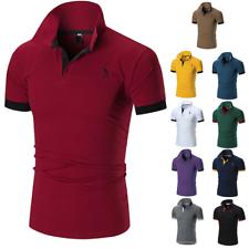 Men's Slim Fit Camisas informales mangas cortas camiseta Tops Jersey gol Músculo Tee