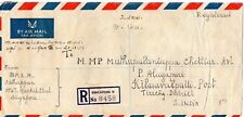registered by air mail cover from sigapore to s. india