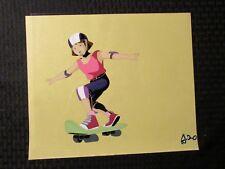 """GI JOE Cartoon 12.5x10.5"""" Animation Production Cel FVF 7.0 Skateboard Girl A-20"""