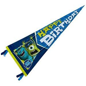 Disney Pixar Monster University Birthday Banner 18 x 51 inches Hallmark