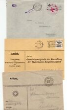 SWITZERLAND: Lot 3 military mail, field post covers 1940-41.