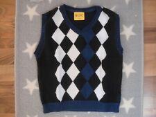 Steiff  Pullunder Pullover Pulli Junge Gr.: 116 kariert Shirt edel w. NEU blau