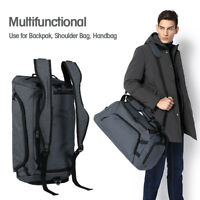 Men's Travel Backpack Large Shoes Compartment Handbag Waterproof Duffle Gym Bag
