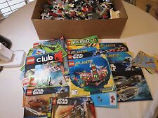 HUGE lot of Legos 10 lbs loose building Star Wars Lego instruction books 8095