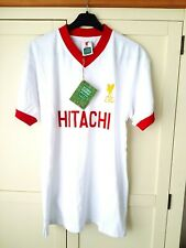 Liverpool BNWT Retro Away Shirt. Medium. Score Draw. White Adults Football Top M