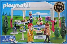 Playmobil 4308 convives au Barnum Gâteau Buffet et cadeaux Table NEUF