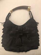 Yves Saint Laurent St Tropez Mombasa Bag, Horn Handle, Black, Authentic